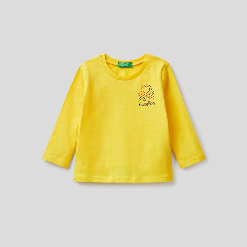 T-shirt manica lunga in cotone biologico