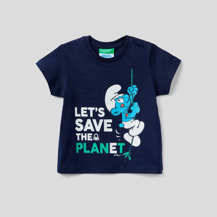 T-shirt con stampa I Puffi