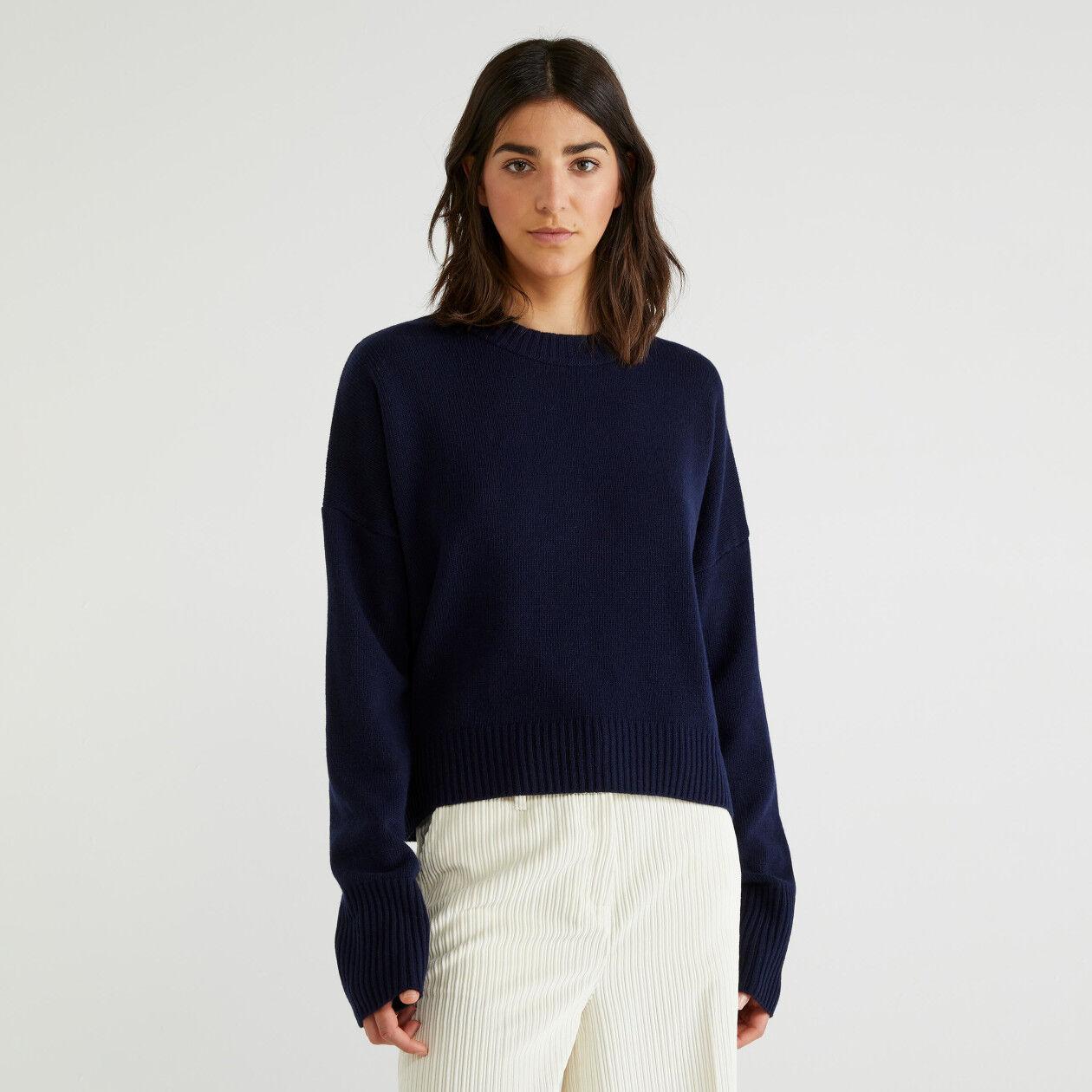 Maglia girocollo in lana