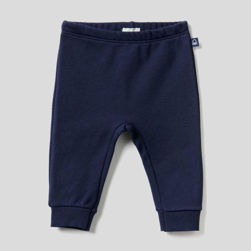 Pantaloni in felpa di cotone biologico