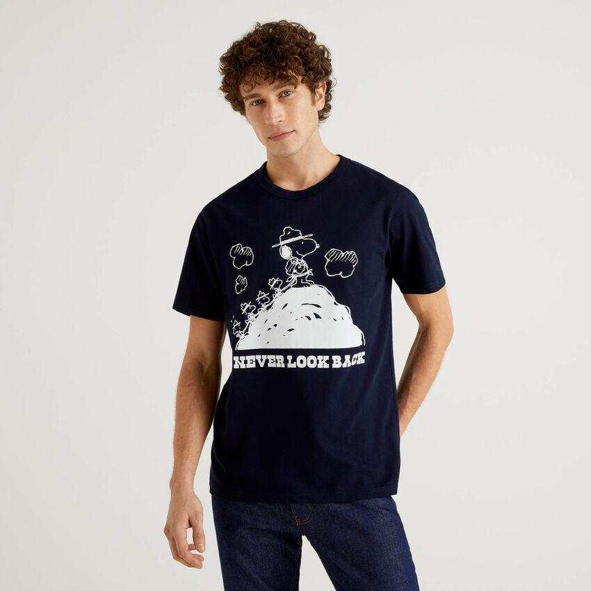 T-shirt Peanuts blu scuro
