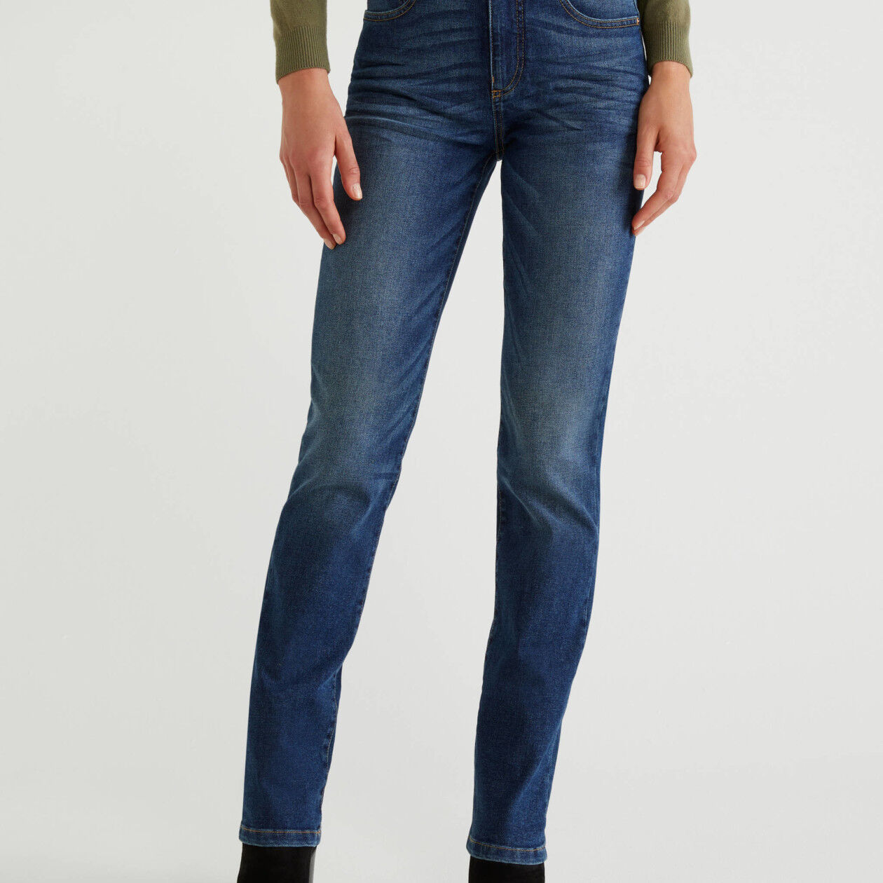Jeans straight slim fit