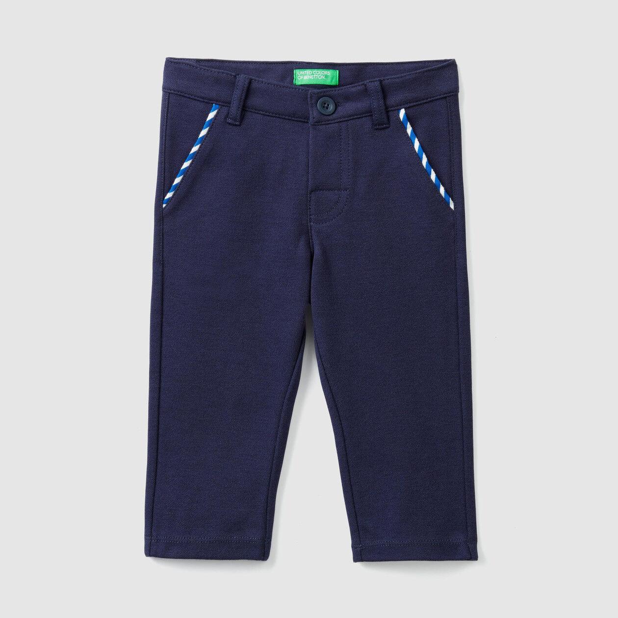 Pantaloni di piquet stretch