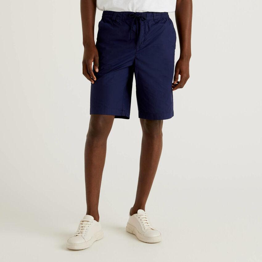Shorts con coulisse 100% cotone