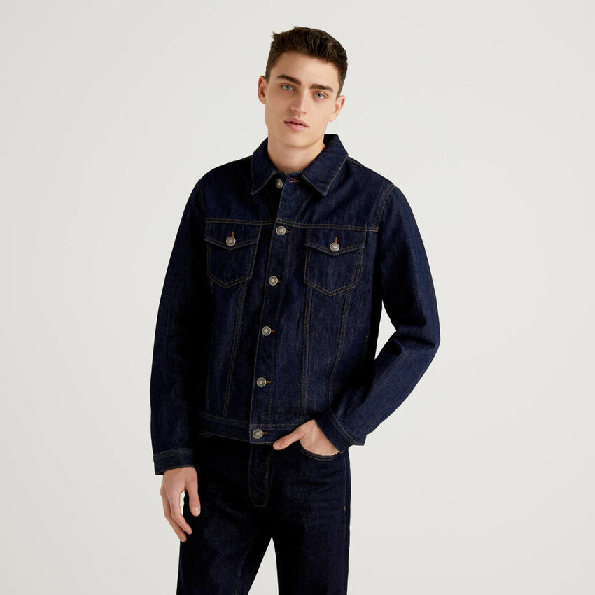Giubbino in jeans 100% cotone