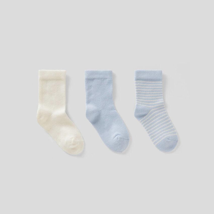 Set calzini nei toni dell'azzurro
