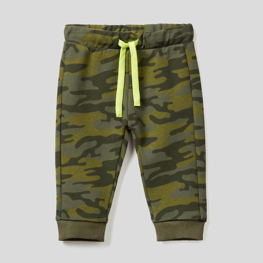 Pantaloni in felpa di puro cotone