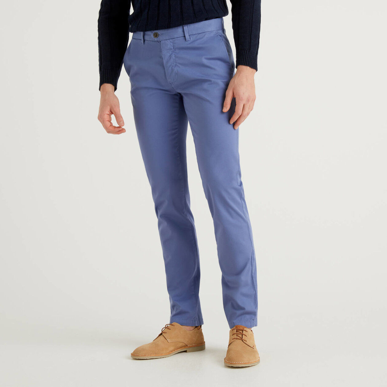 Chino stretch slim fit avio