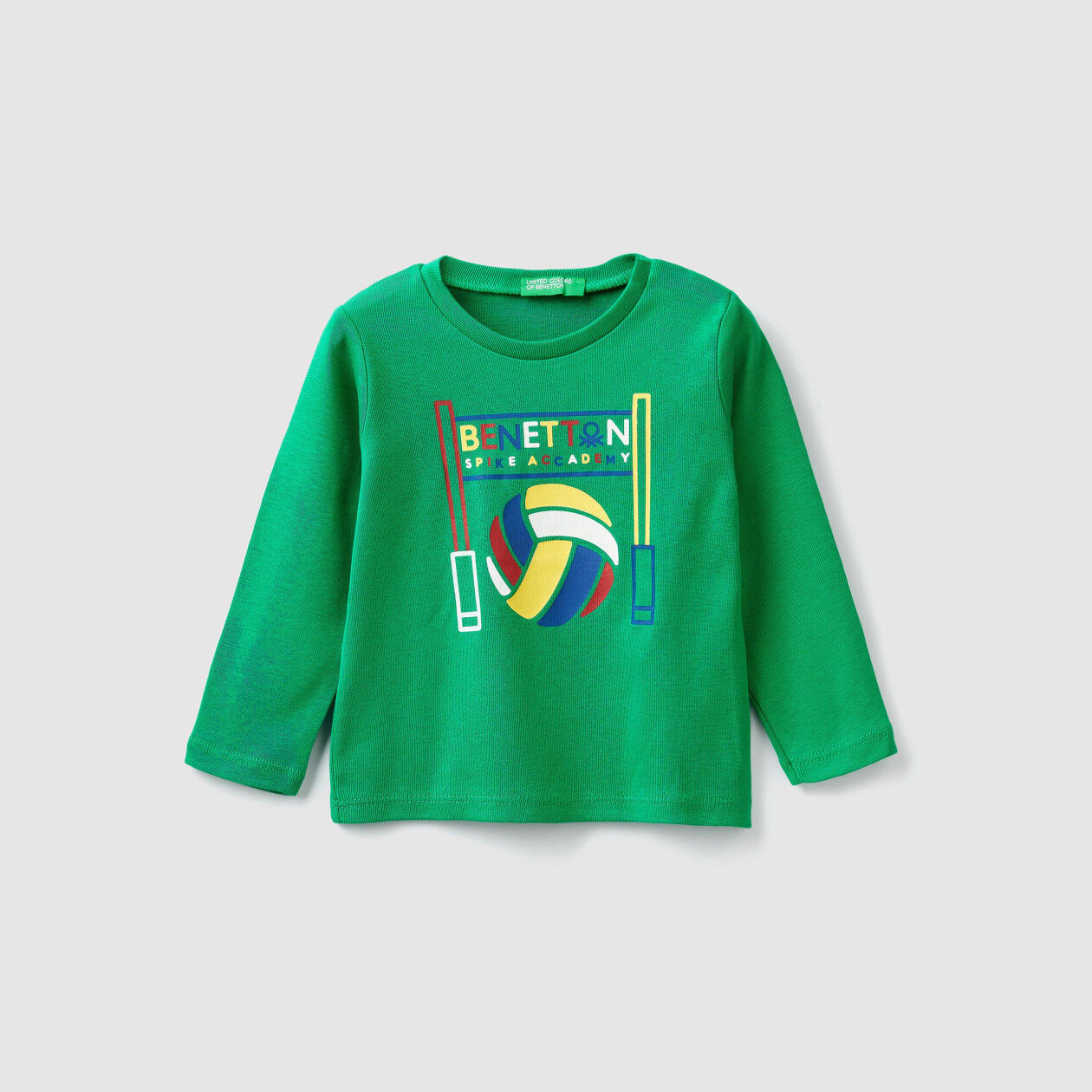 T-shirt a costine con stampa logo