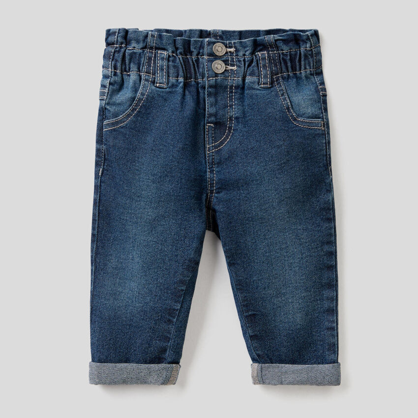 """Jeans """"Eco-Recycle"""" taglio paperbag"""