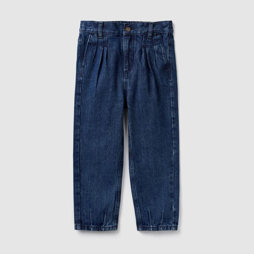 Pantaloni in denim a vita alta