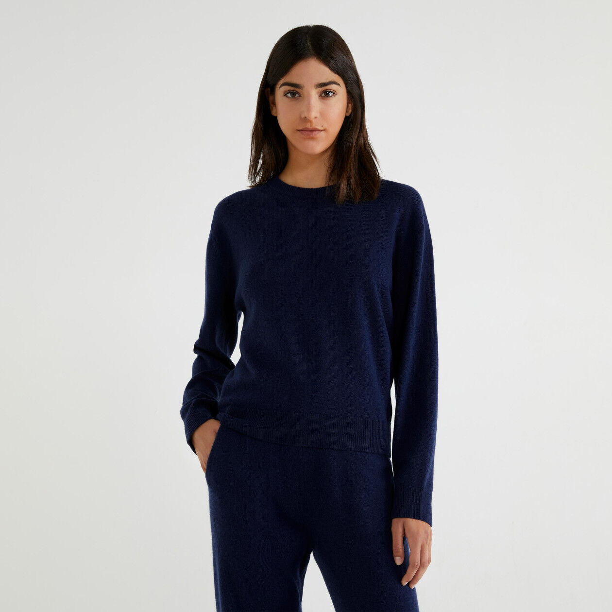 Maglia in cashmere e lana vergine