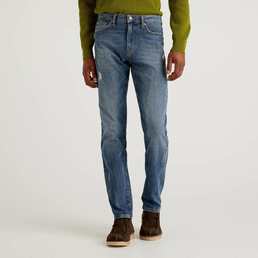 Jeans cinque tasche in cotone stretch