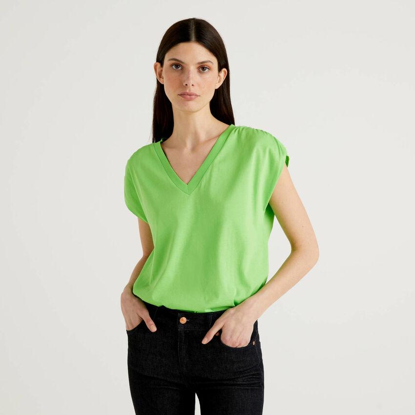T-shirt a manica corta in 100% cotone