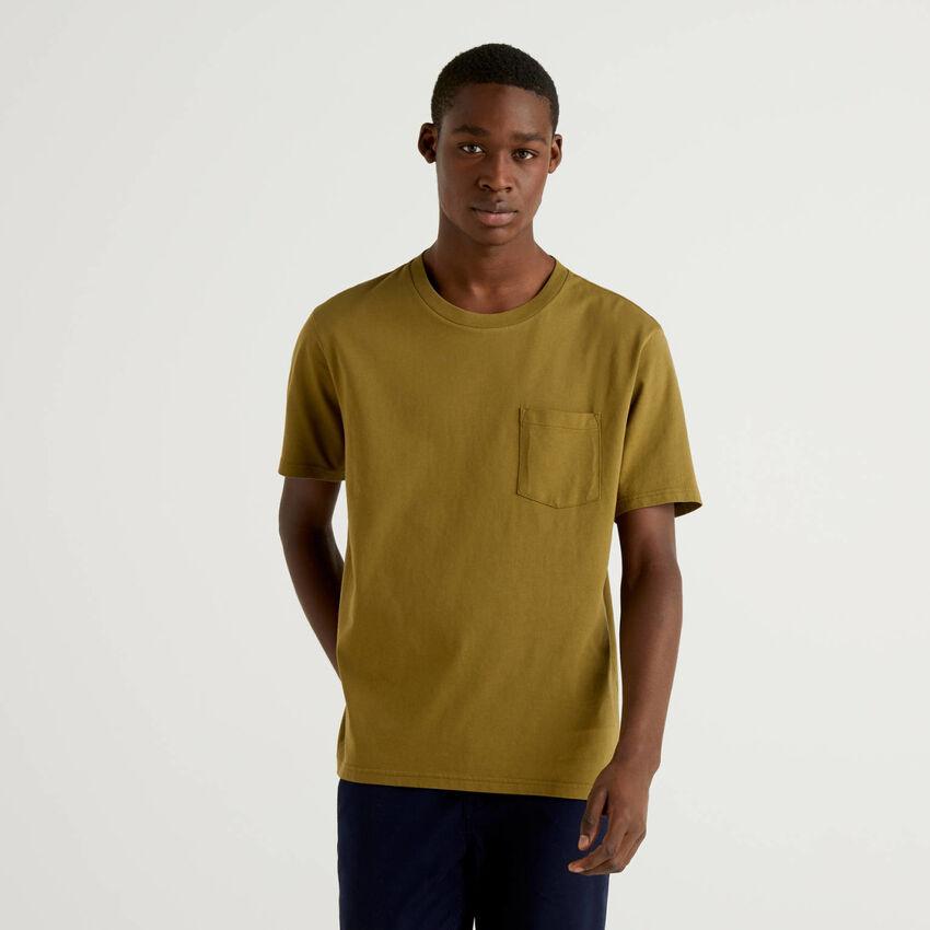 T-shirt 100% cotone con taschino