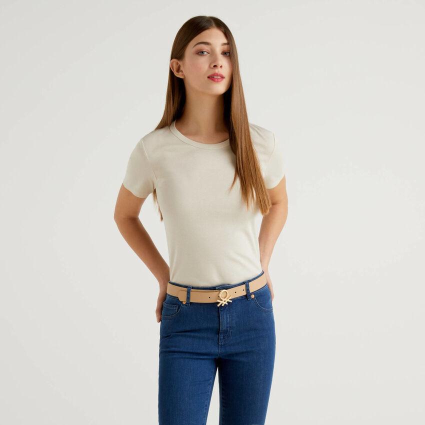 T-shirt in cotone a fibra lunga