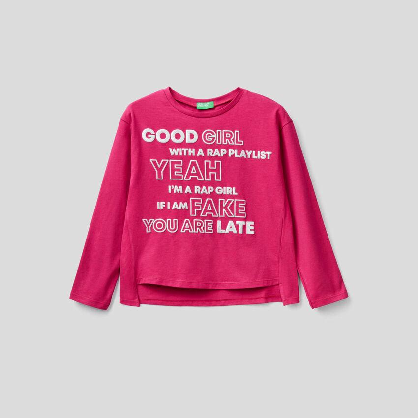 T-shirt manica lunga 100% cotone