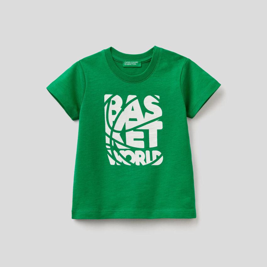 T-shirt stampata in cotone biologico
