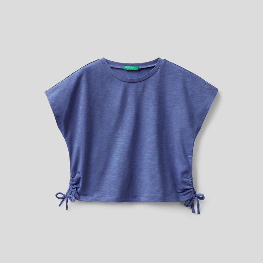 T-shirt in cotone stretch con fiocchetti