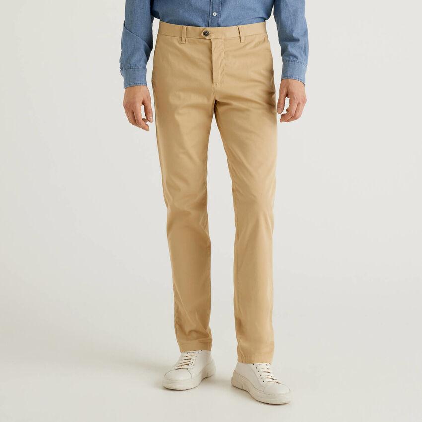 Chino stretch slim fit beige
