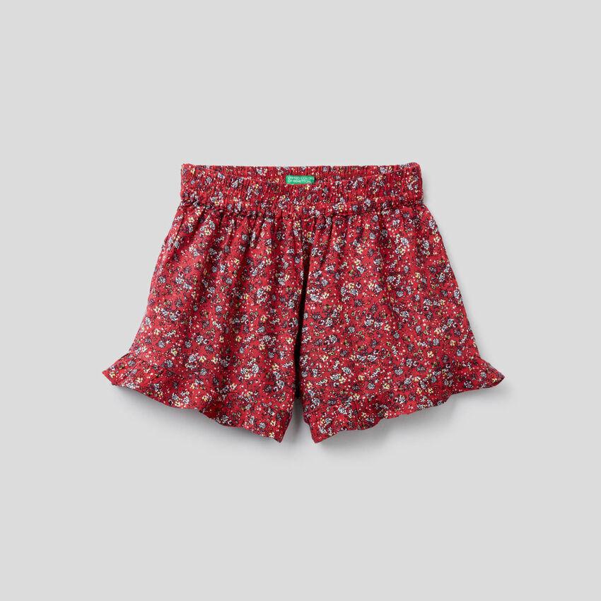 Shorts fluidi con stampa floreale