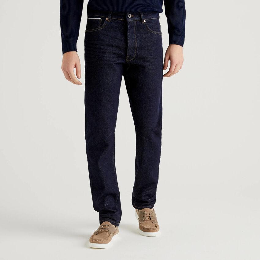 Jeans cinque tasche in denim 100% cotone