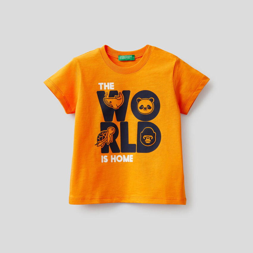 T-shirt in 100% cotone con stampa