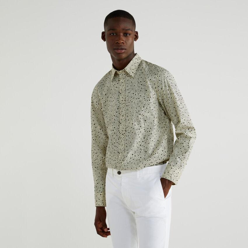 Camicia stampata slim fit
