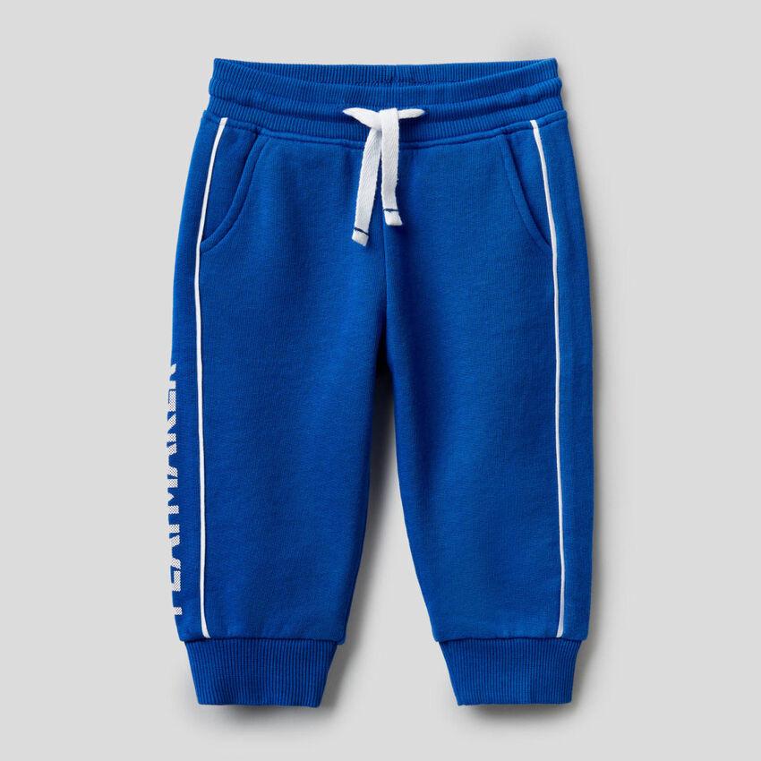 Pantaloni in felpa 100% cotone con stampa