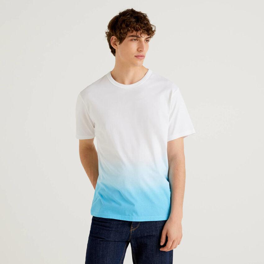 T-shirt 100% cotone effetto degradé