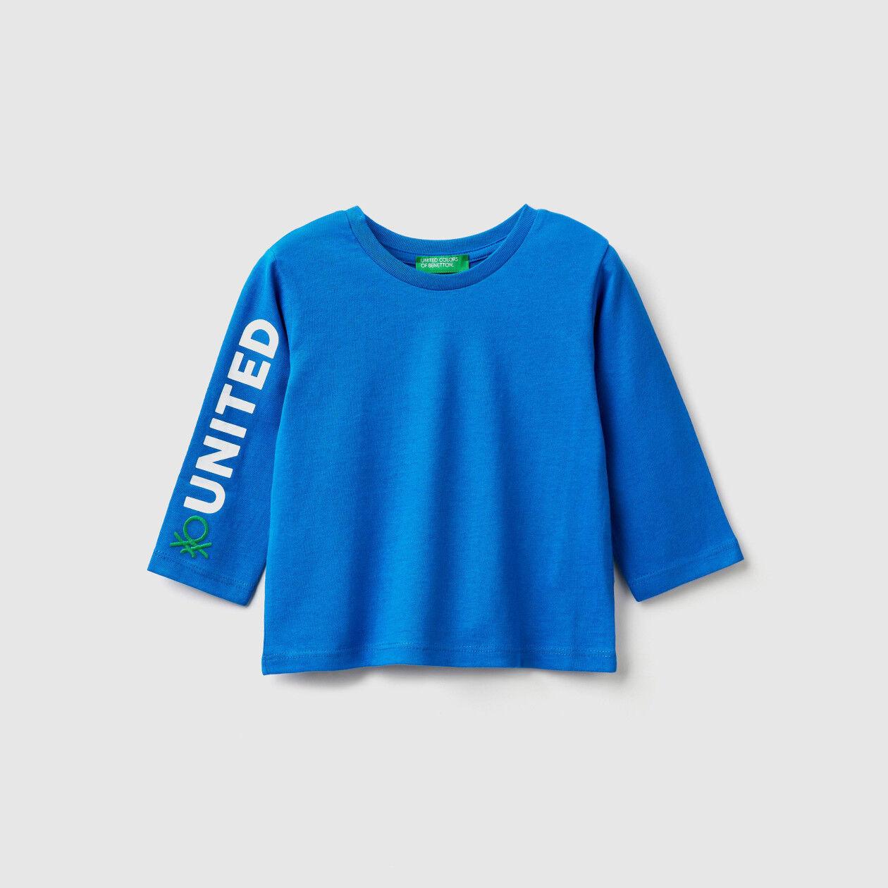 T-shirt in caldo cotone con logo