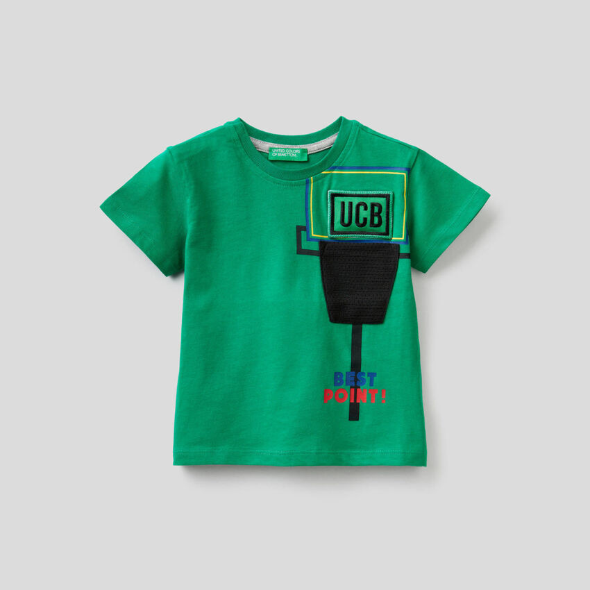 T-shirt con patch sonoro