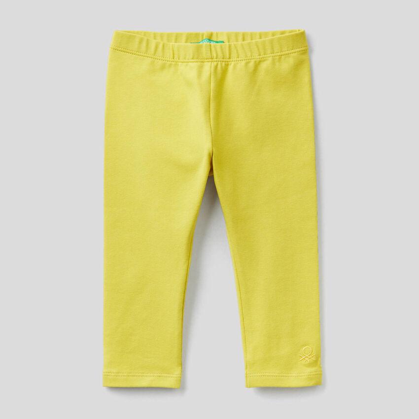 Leggings gialli in cotone stretch