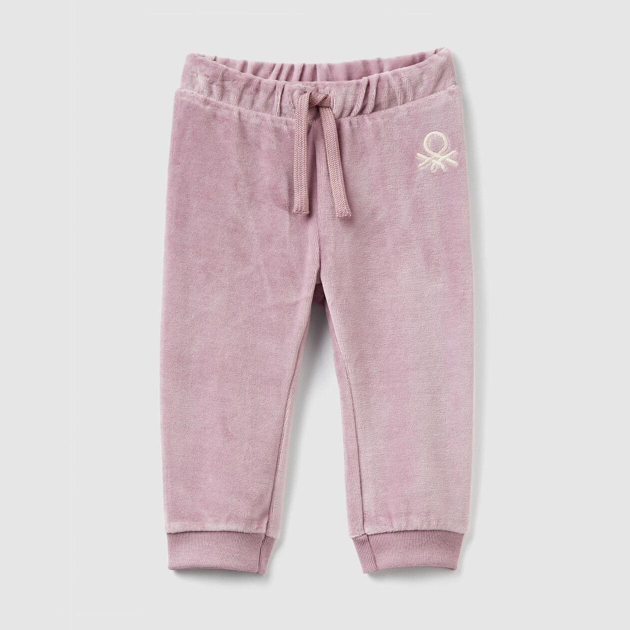 Pantaloni in ciniglia con coulisse