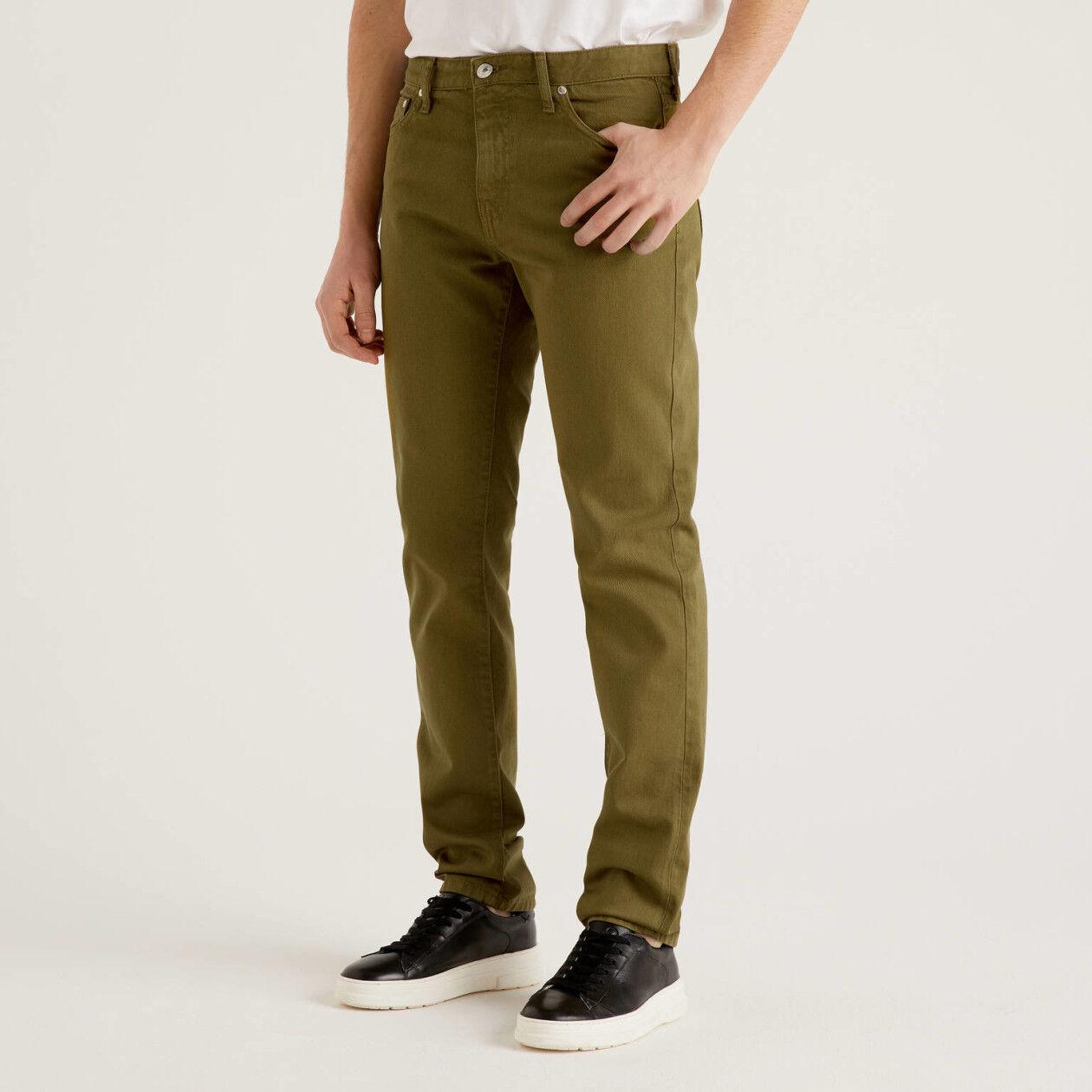 Pantaloni cinque tasche 100% cotone