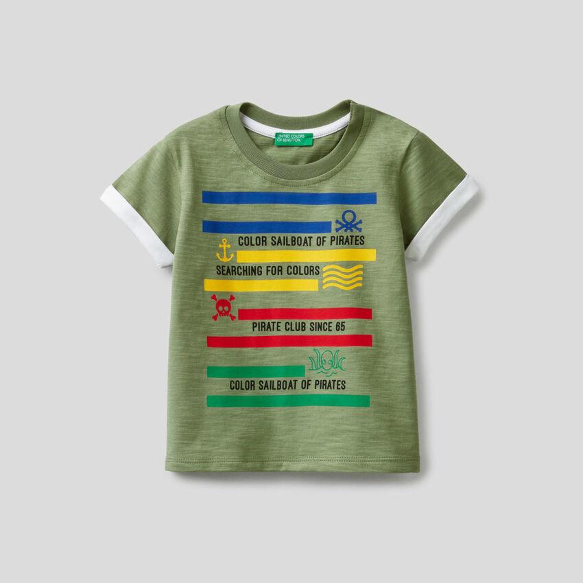 T-shirt in cotone con stampa