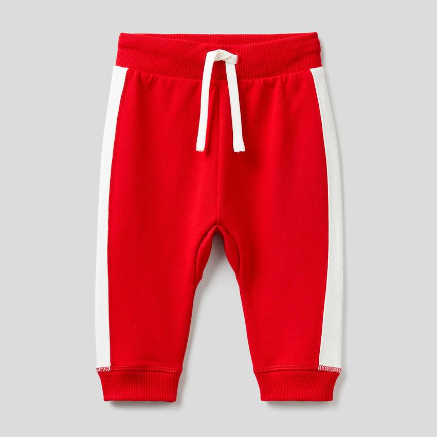 Pantaloni in felpa di cotone bio stretch