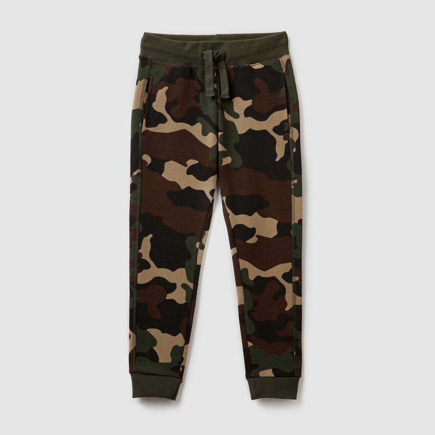 Pantaloni in felpa stampata