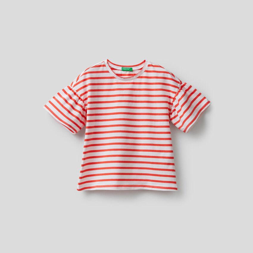 T-shirt a righe tinto filo