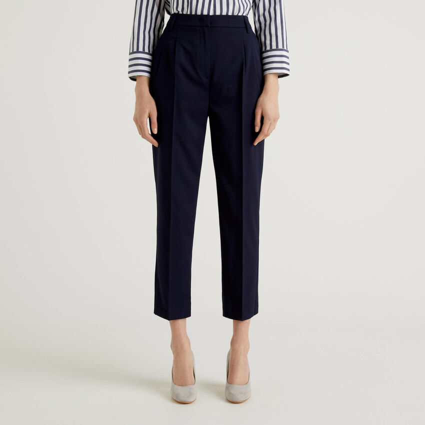 Pantaloni classici in tessuto stretch