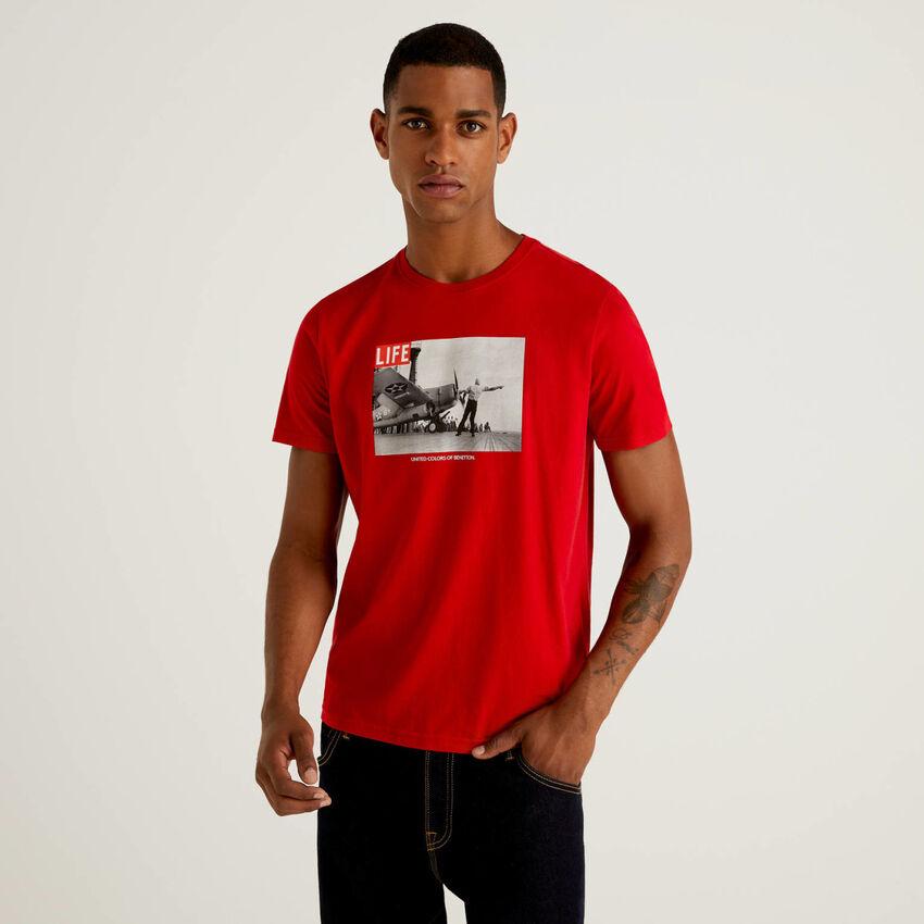 T-shirt Life in 100% cotone biologico