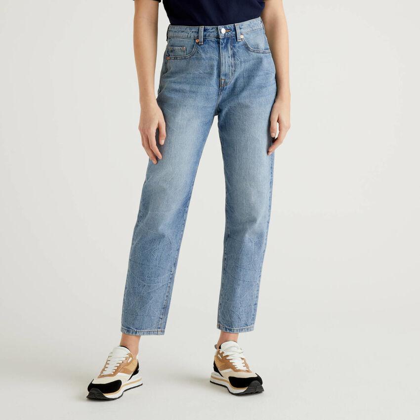 Jeans boyfriend 100% cotone