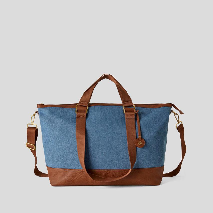 Maxi borsa in tessuto