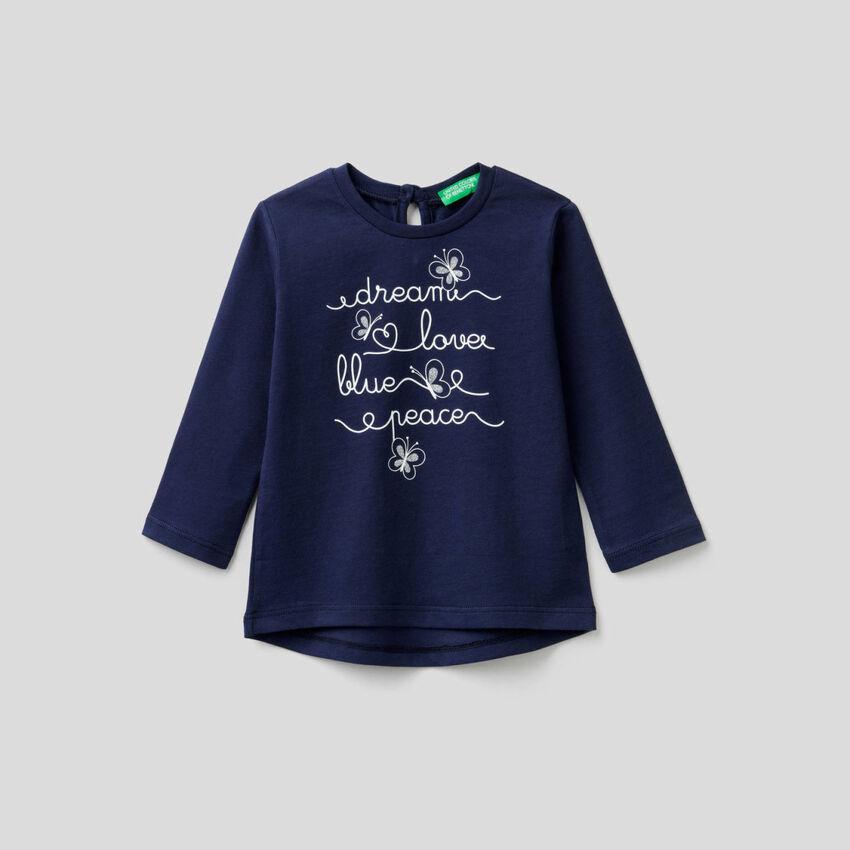 T-shirt manica lunga in puro cotone