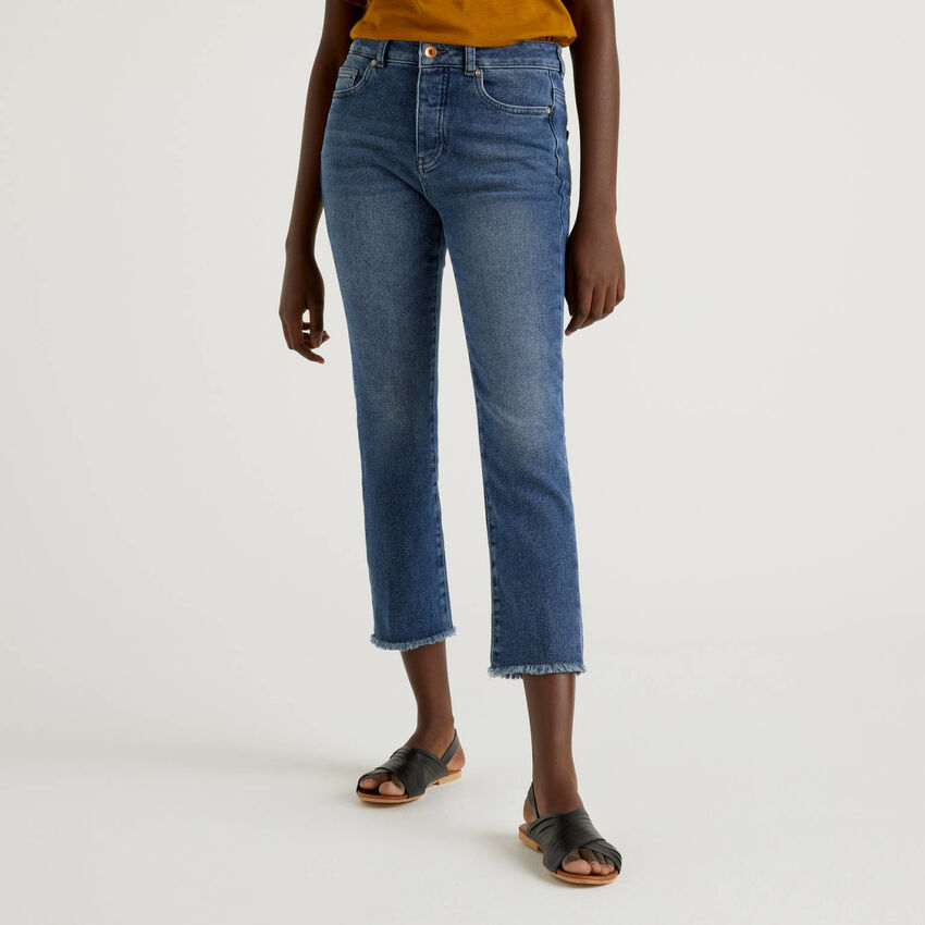 Jeans cropped cinque tasche