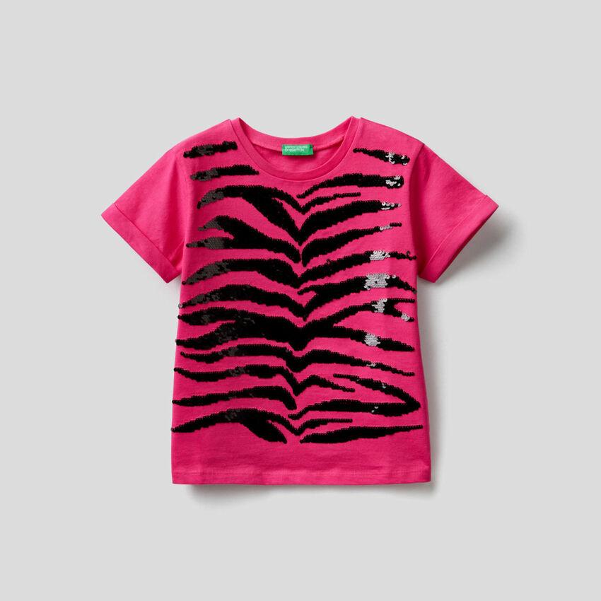 T-shirt con paillettes