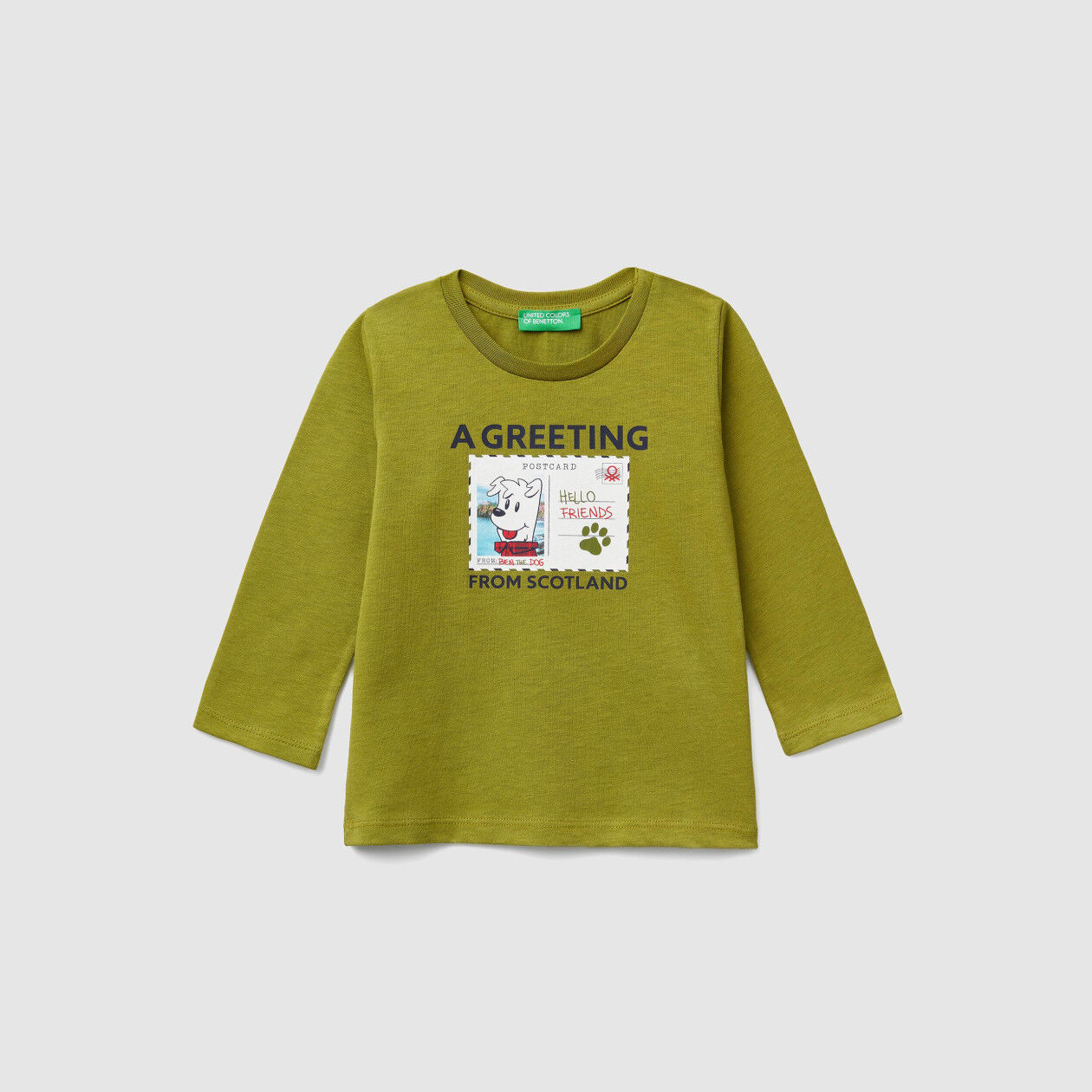 T-shirt con stampa cartolina