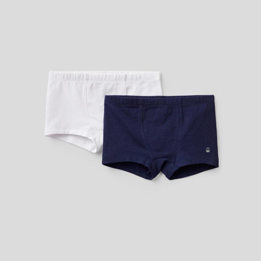 Due boxer in cotone elasticizzato