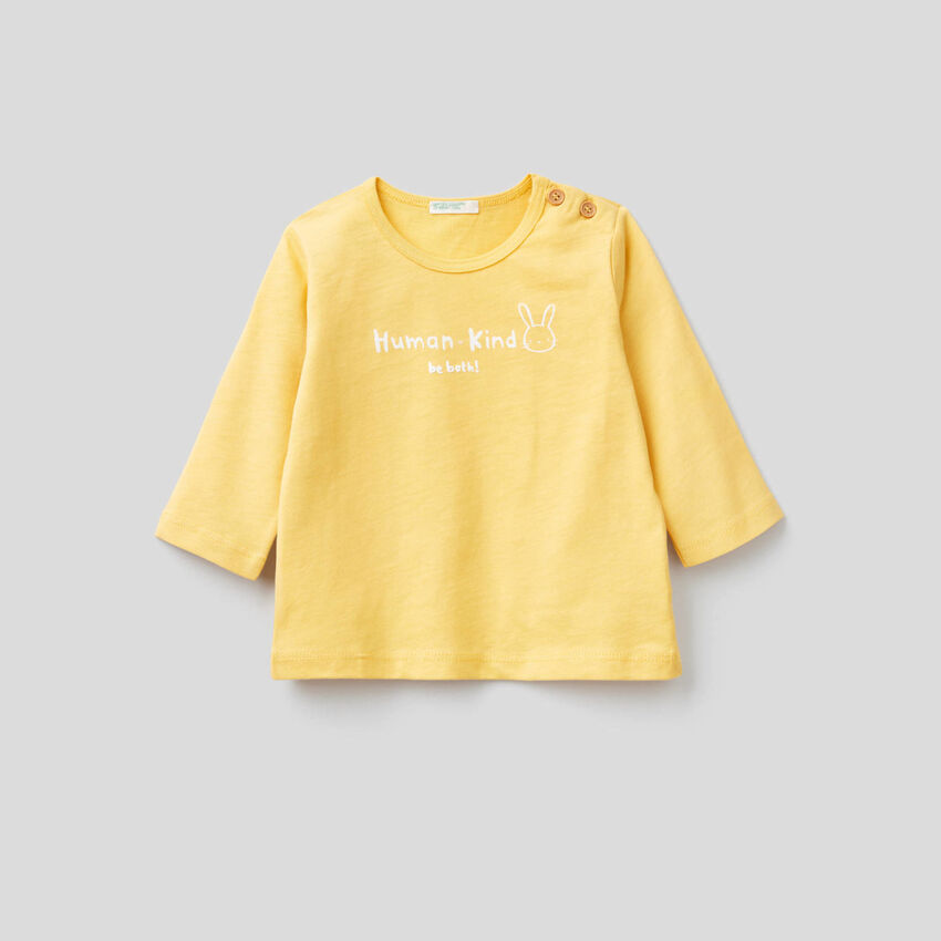 T-shirt in morbido 100% cotone biologico