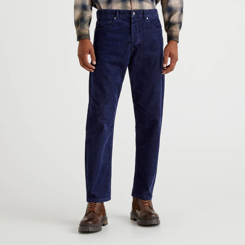 Pantaloni cinque tasche in velluto